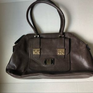 Guess faux leather brown satchel